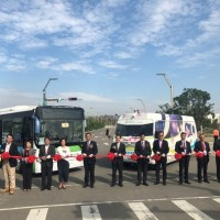 Self-driving bus rides free of charge during trial operation in Taiwan's Taichung