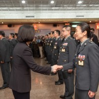 Taiwan President promotes 26 military officers