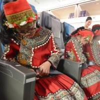 Taiwan indigenous children board Boeing Dreamliner