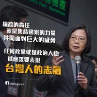 蔡英文力抗中國霸凌 網路聲量止跌回升