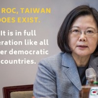 Tsai's response to Xi: 'Taiwan does exist'