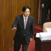 立院完成總預算審查 賴清德宣布周五正式提內閣總辭