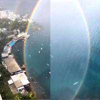 Breathtaking full circle rainbow described as 'portal to another universe'