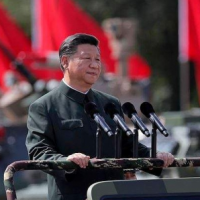 File photo: Xi Jinping in a military parade
