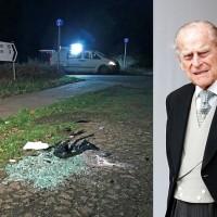 英女王97歲夫婿出車禍翻車...好險!