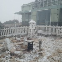 Taiwan's Yushan sees fresh snow on Jan. 21, 2019 (Courtesy of Taiwan's Central Weather Bureau)
