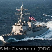 US warships pass through Taiwan Strait