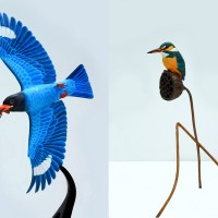 Bird carving exhibition in Taipei features artworks from Taiwan, Japan
