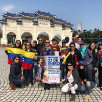 Photo of the Day: Venezuelans rally for Juan Guaidó in Taipei
