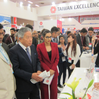 Taiwan envoy to India promotes bilateral cooperation at trade show in New Delhi