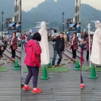 Tourist at Taiwan's Sun Moon Lake caught taking upskirt photo of street performer
