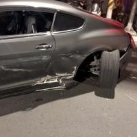 Toyota and motorcycle slam into Bentley on Taiwan street