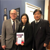 Wife of Taiwan human rights worker jailed in China visits U.S. Congress