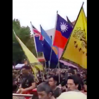 Taiwan flag flown at Melbourne's New year parade