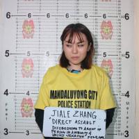 中國放肆女子向菲律賓警察潑灑豆花 面臨最高4年有期徒刑
