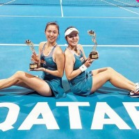 Taiwan's Chan sisters capture doubles title in Doha