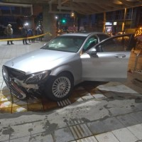 93-year-old man crashes Mercedes into Taipei MRT station
