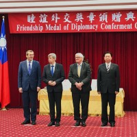 3 MEPs granted medal of diplomacy to recognize promotion of Taiwan-EU ties