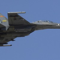 PLAAF J-11 multi-role fighter.