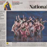 捷報!英媒大篇幅報導 雲門獲「最傑出舞團獎」
