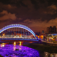 Photo of the Day: River glows purple during Taoyuan, Taiwan Lantern Festival