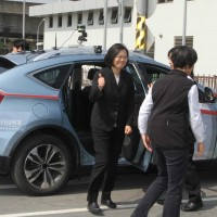 Tsai attends opening of Taiwan's first self-driving car test site