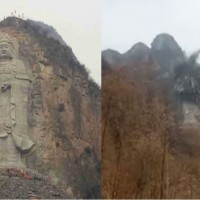 Video shows Communist Chinese govt. blast giant Buddha statue to smithereens