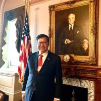鄭文燦進白宮、與美國務院高層見面