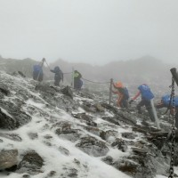 Snow falls on Taiwan's Yushan