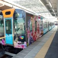 桃捷日本阪神列車啟航 彩繪花布、美食推台灣觀光