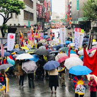 Activists in Taiwan march to support human rights and freedom for Tibet