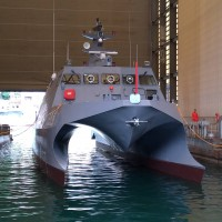 Taiwan launches military test ship