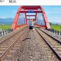 Tourists lambasted for climbing up a railroad bridge in eastern Taiwan for taking photos