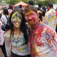 Indian Holi Festival brings burst of colors to Taipei