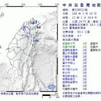 宜蘭地牛翻身芮氏規模4.7  宜蘭、台北震度2級