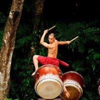 U-Theatre brings drum performance to Taiwan's highland lake