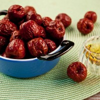 Eat red dates on Chunfen, spring equinox, in Taiwan