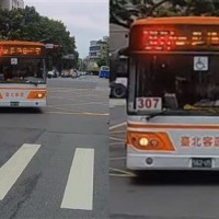 Video shows New Taipei buses actually stopping at zebra crossing