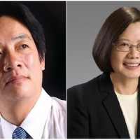William Lai and Tsai Ing-wen (Credit: William Lai official FB page and Wikipedia)