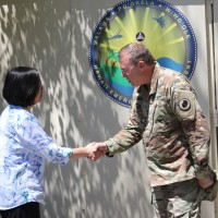 Taiwan's President Tsai meets American general in US for 1st time