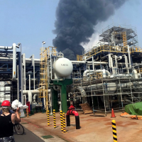 LPG explosion occurs at factory in Yunlin County, Taiwan