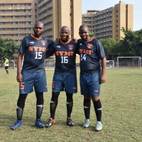 Students from Taiwan ally eSwatini play football