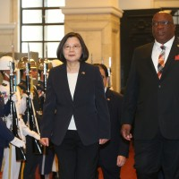 Taiwan President welcomes Prime Minister of St. Kitts with military salute