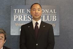 郭文貴首場記者會:中國對美滲透的危害超過911