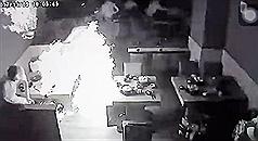 Massive fireball inhotpot restaurant injures 7