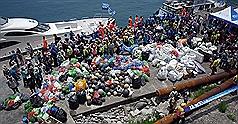6百志工基隆嶼淨灘 清出1.5噸垃圾