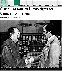 Taiwan can teach Canada a thing or two about human rights: Ottawa Citizen