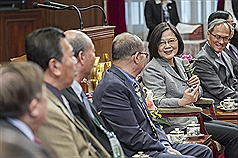 Stable Taiwan-U.S. relations key to peaceful Indo-Pacific: President Tsai