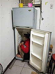 Taiwan finds illegal Vietnamese worker hiding inside refrigerator