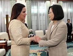 Taiwan president meets with Honduras first lady